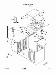 Kenmore Model 11021102011 Residential Washers Genuine Parts