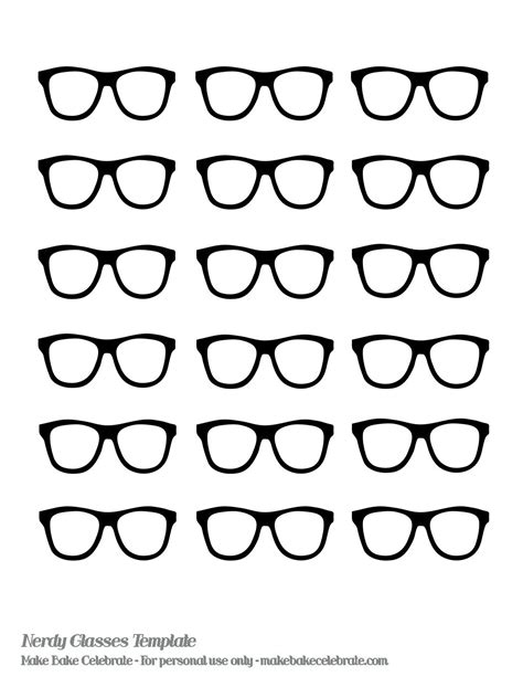Templates Nerd nerd glasses template even made a nerdy glasses template