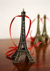 eiffel tower christmas ornaments by highstreetmarket on etsy