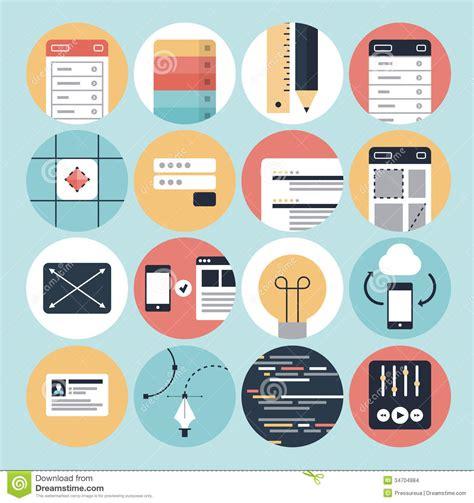 modern web development  graphic design icons stock
