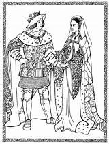 Queen King Spain Philip Coloring Paper Dolls Juana Spanish Kings Queens Text sketch template