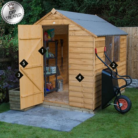 Buy A Shed Uk by Forest 8x6 Apex Overlap Dip Treated Shed Buy Sheds Direct