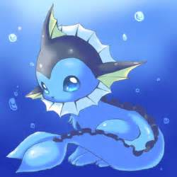 Cute Water Pokemon Vaporeon