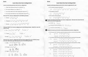Electron Arrangements Worksheet Answers