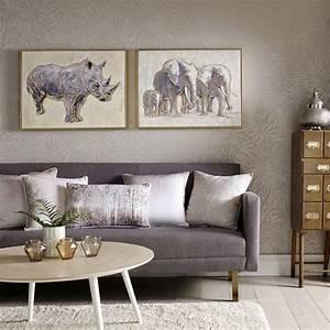 Metal, Artlic, Elephant, Family, Handpainted, Framed, Canvas