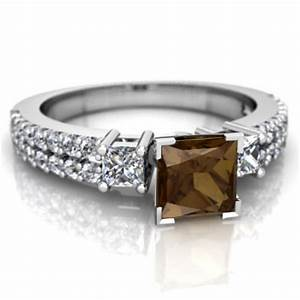 Smoky quartz engagement ring r26435sq wsmky for Quartz wedding rings