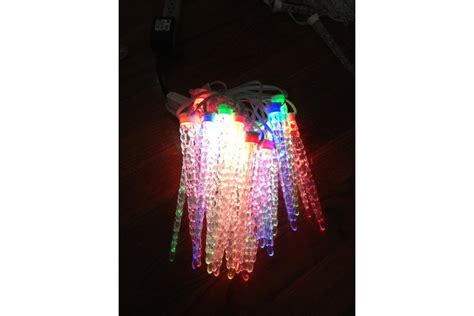 ge color effects christmas lights with colornode controller 26 led icicle strand from