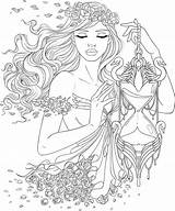Coloring Pages Fantasy sketch template