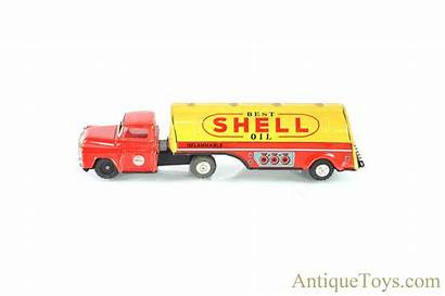 Shoten Momoya Gasoline Tanker Lithographed Tin Shell