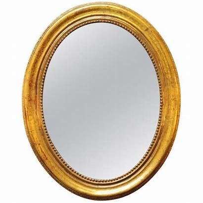 Oval Gold Mirror Mirrors Clipart Clip French