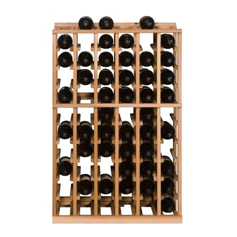 home depot wine rack vinotemp 60 bottle pine floor wine rack ibh 6 1 the home