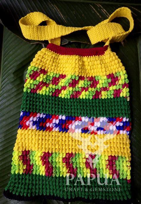 jual kerajinan tangan tas rajut anyaman benang katun warna
