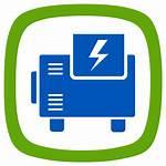 Generator Clipart Icon Power Symbol Transparent Electric