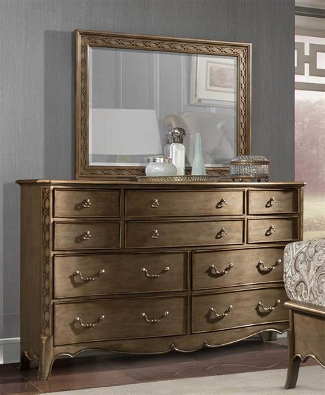 Kommode Spiegel by Homelegance Clayton Antique Gold Dresser W Mirror 1828 5