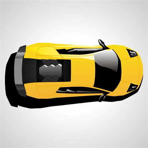 vehicle top view vector for free use lamborghini car top view