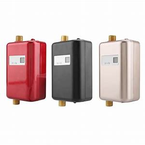 220v 3400w Mini Electric Tankless Instant Hot Water Heater Bathroom Kitchen Washing Eu New