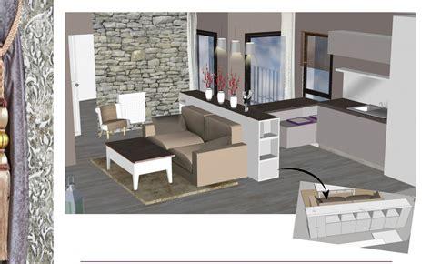 chambre complete bébé agencement 3d d un salon cuisine de 30 m2 réalisé à partir