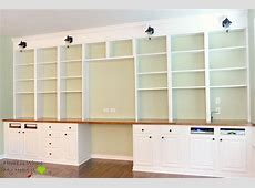 Remodelaholic Build A WalltoWall BuiltIn Desk and