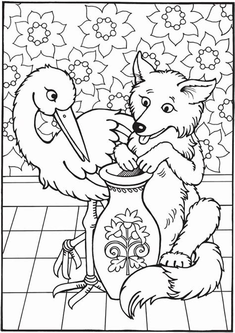 easy  print fox coloring pages tulamama