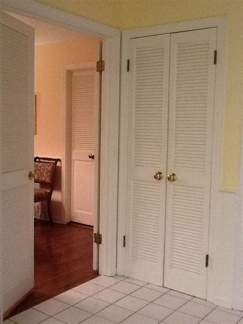 narrow doors into master bedroom