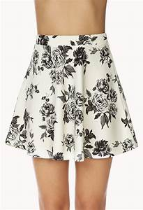 Lyst - Forever 21 Dainty Floral Skirt in White
