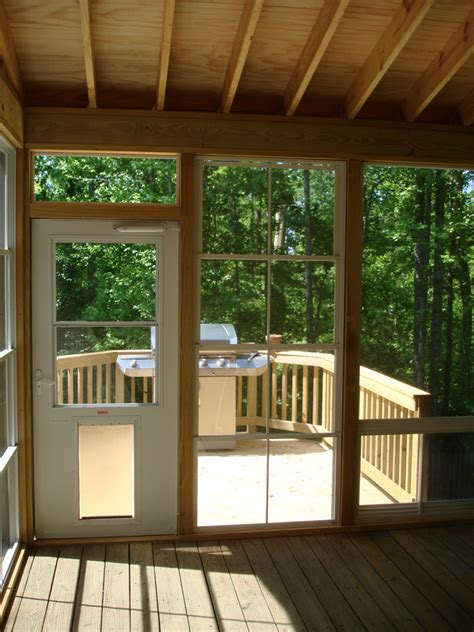 screened in porch doors archadeck of the piedmont triad gives these oak ridge nc