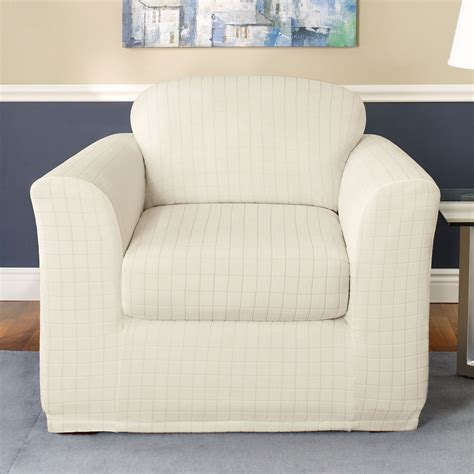 sure fit slipcovers chair sure fit slipcovers stretch squares chair slipcover atg