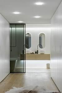 chambre avec salle de bain fusion d39espaces harmonieuse With porte de douche coulissante avec tapis de sol salle de bain antidérapant