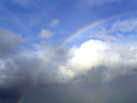 picture rainbows couds sky