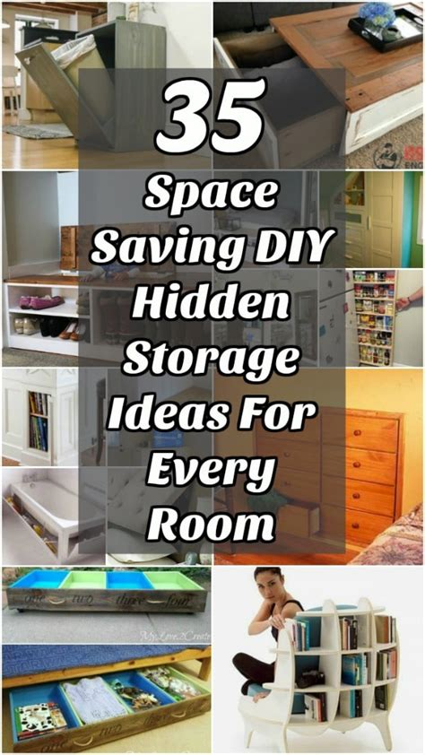 space saving diy hidden storage ideas   room