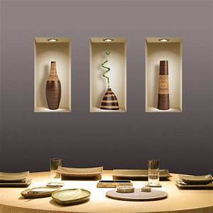 SET 3 ART WALL STICKER 3D TILE DECALS PICTURE REMOVABLE ...