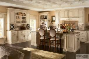 kraftmaid kitchen island kraftmaid maple cabinetry in biscotti with cocoa glaze traditional kitchen by kraftmaid