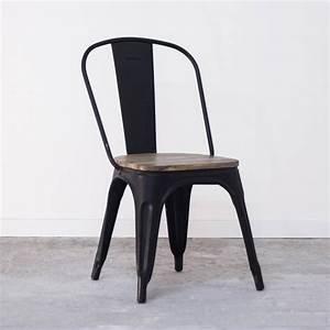 Chaise Metal Tolix : chaise de cuisine industrielle ou salle a manger style tolix ~ Teatrodelosmanantiales.com Idées de Décoration