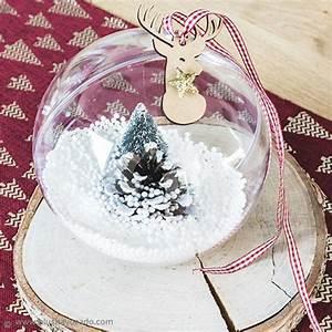 Boule Noel Transparente : diy boule d corative transparente pour no l id es et conseils boules de no l ~ Melissatoandfro.com Idées de Décoration