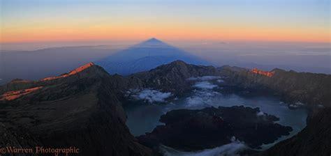 Rinjani summit at sunrise photo - WP36552