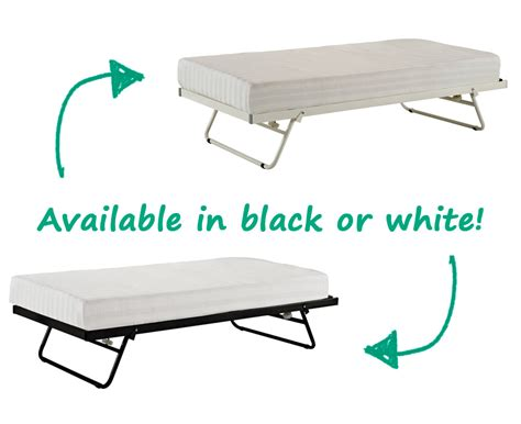 New Metal Day Bed Trundle Only Pull Out Bed Black White
