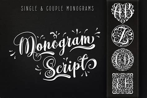 monogram script full alphabet stunning script fonts creative market