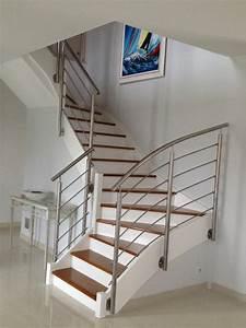 escalier renover bois meilleures images d39inspiration With peindre rampe escalier bois 4 la renovation de lescalier la maison de lilly