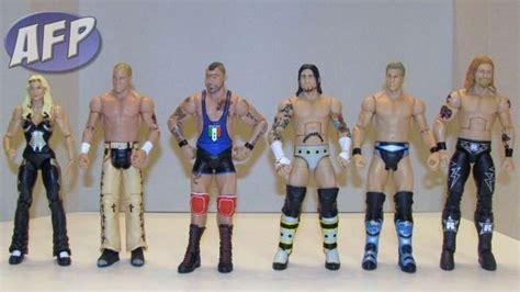 Mattel Wwe Cm Punk And Edge Elites, Glamarella And Hbk Vs