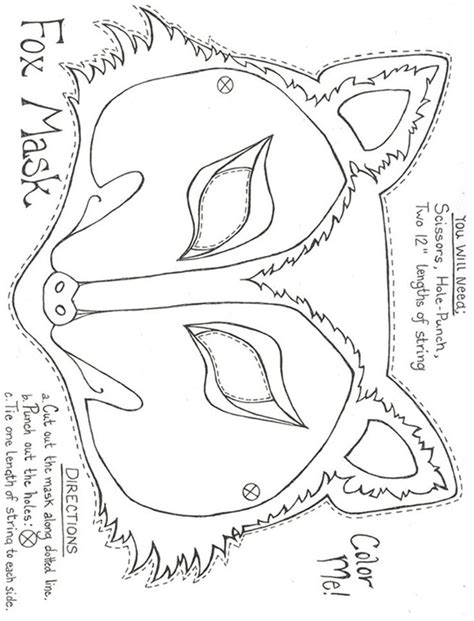 1000 Ideas About Fox Mask On Pinterest Animal Masks, Owl