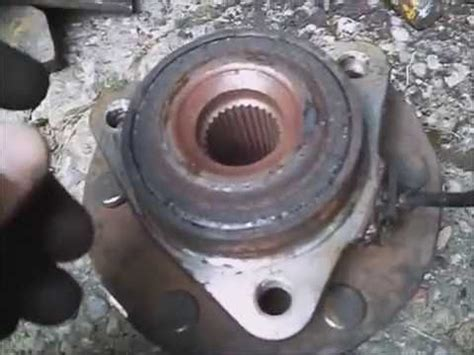 nissan armada se  front wheel bearing noise replace