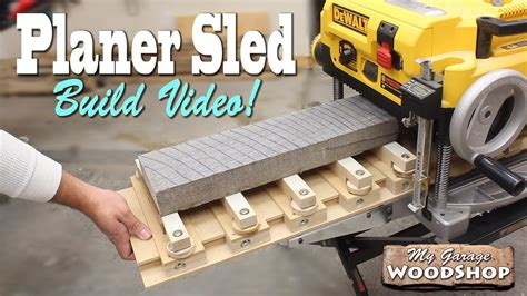 build  planer sled youtube
