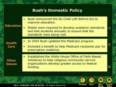 george  bushs presidency prezentatsiya onlayn