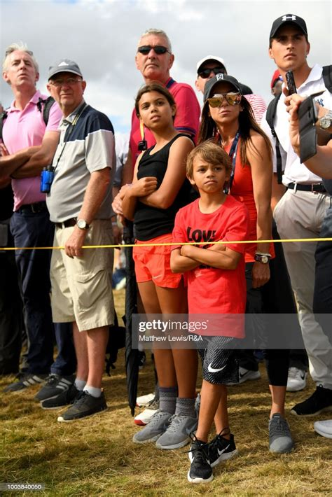 The children of Tiger Woods of the United States look on ...
