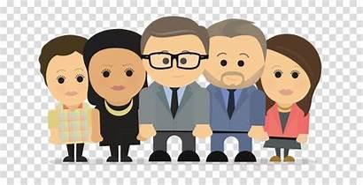 Management Icon Cartoon Team Executive Senior Clipart