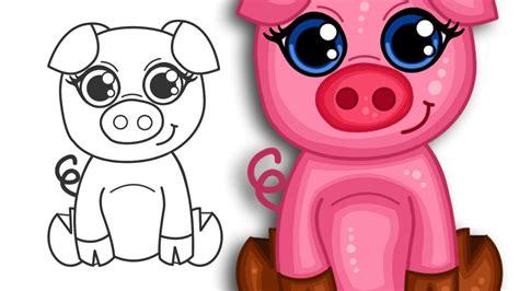 How To Draw A Super Cute Cartoon Pig