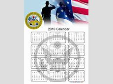 Home Life Weekly » Military Calendar 2010 Free Printables