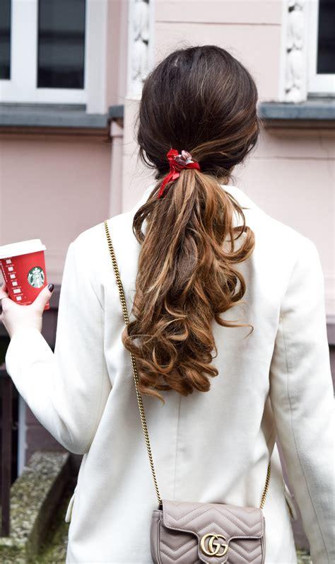 schoene und einfache frisuren mit samt haarband
