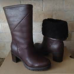 womens ugg high heel boots ugg jessia stout brown water resistant leather high heel boots us 6 womens what 39 s it worth