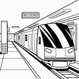 Subway Train Coloring Clipart Trains Drawing Draw Metro Pages Step Drawings Sheet Template Dragoart Sketch Colouring Station Perspective Sheets Underground sketch template